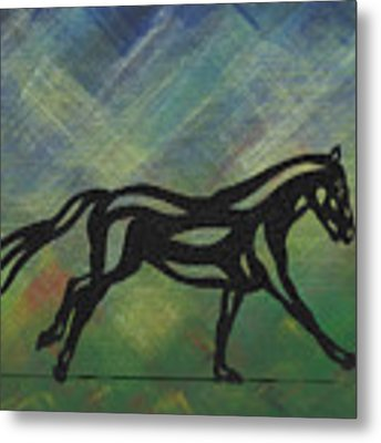 Clementine - Abstract Horse Metal Print by Manuel Sueess