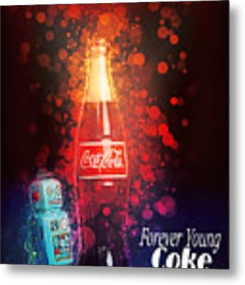 Coca-cola Forever Young 15 Metal Print by James Sage