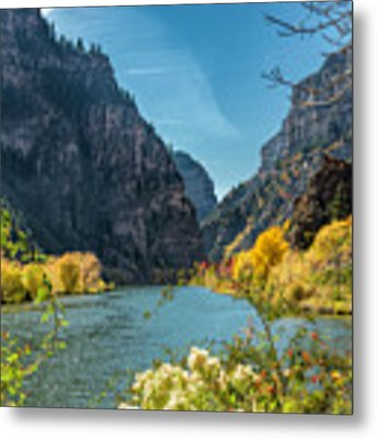 Colorado River And Glenwood Canyon Metal Print by Jemmy Archer