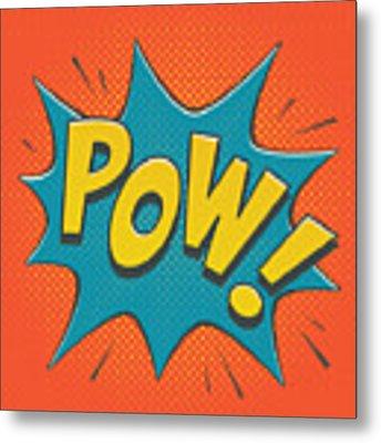 Comic Pow Metal Print by Mitch Frey
