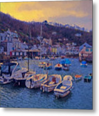 Cornish Fishing Village Metal Print by Paul Gulliver