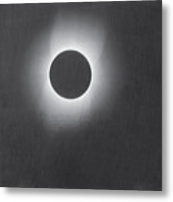Corona Of The Sun During A Solar Eclipse Metal Print by Artistic Panda