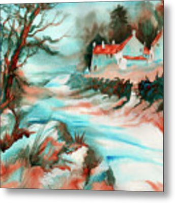 Country Road Metal Print by Xavier Francois