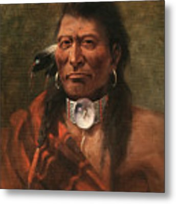 Cree Chief Metal Print by Edgar S Paxson