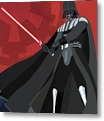 Darth Vader Star Wars Character Quotes Poster Metal Print by Lab No 4