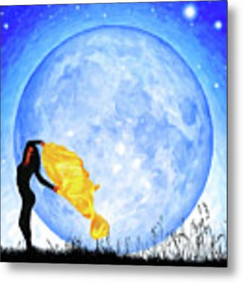 Daughter Of The Moon Metal Print by Mark Tisdale