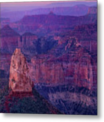 Dawn Mount Hayden Sunrise North Rim Grand Canyon Arizona Metal Print by Dave Welling