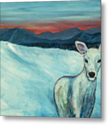 Deer Jud Metal Print by Angelique Bowman