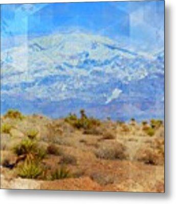 Desert Contrasts Metal Print by Michelle Dallocchio
