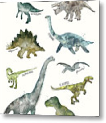 Dinosaurs Metal Print by Amy Hamilton