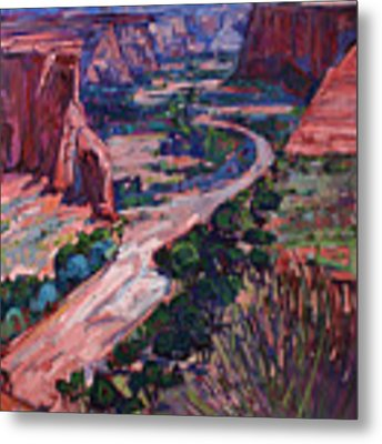 Down In The Canyon Metal Print by Erin Hanson