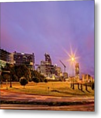 Downtown Charlotte North Carolina Usa At Sunrise Metal Print by Alex Grichenko