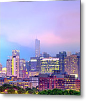 Downtown Chicago Cityscape Skyline Panorama Metal Print by Gregory Ballos