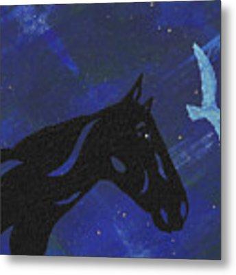 Dreaming Horse Metal Print by Manuel Sueess