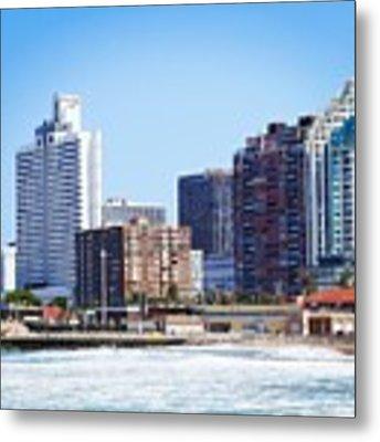 Durban Skyline From Bay Of Plenty Metal Print by Jeremy Hayden