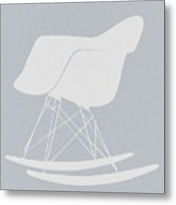Eames Rocking Chair Metal Print by Naxart Studio