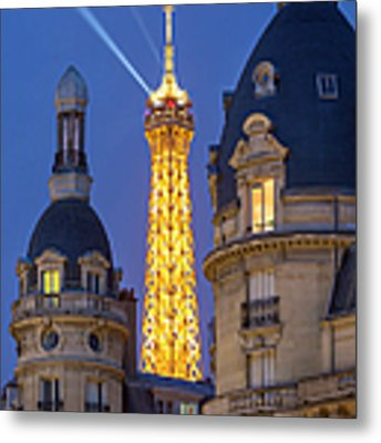 Eiffel Tower From Passy Metal Print by Brian Jannsen