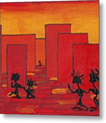 Enjoy Dancing In Red Town P1 Metal Print by Manuel Sueess