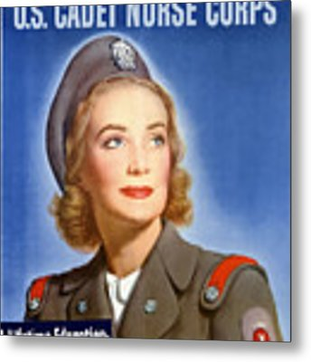 Enlist In A Proud Profession - Join The Us Cadet Nurse Corps Metal Print
