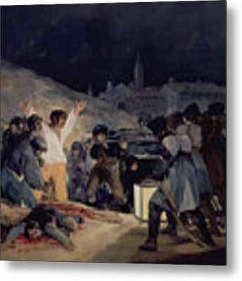 Execution Of The Defenders Of Madrid Metal Print by Goya