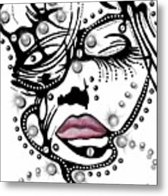 Female Abstract Face Metal Print by Darren Cannell