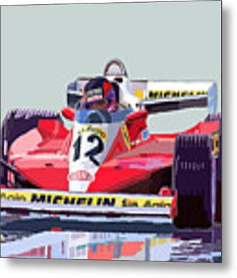 Ferrari 312 T3 1978 Canadian Gp Metal Print by Yuriy Shevchuk