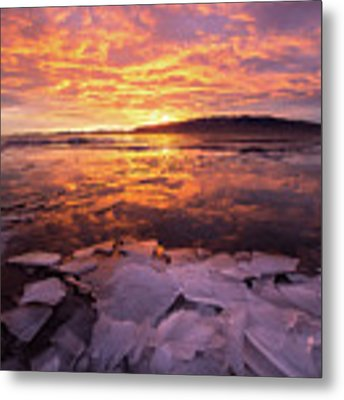 Fire And Ice Metal Print by Wesley Aston