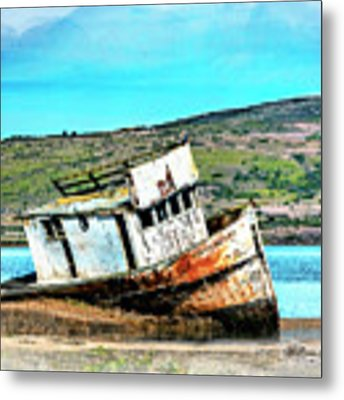 Fishing Boat Point Reyes Metal Print by William Havle