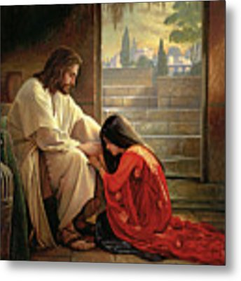 Forgiven Metal Print by Greg Olsen