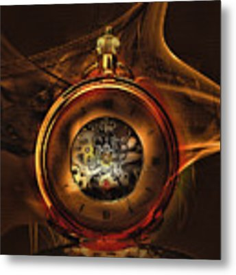 Fractal Time Metal Print by Richard Ricci
