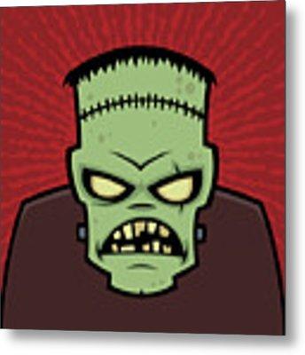 Frankenstein Monster Metal Print by John Schwegel