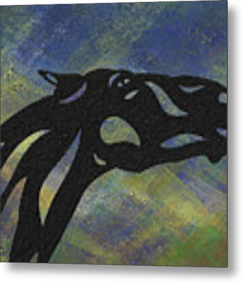 Fred - Abstract Horse Metal Print by Manuel Sueess