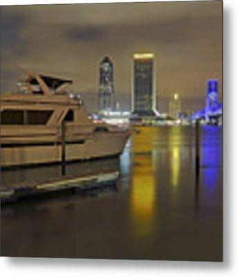 Friendship Park Marina - Jacksonville Florida - Skyline Metal Print by Jason Politte