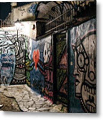 Graffiti In Plaka I Metal Print by James Billings