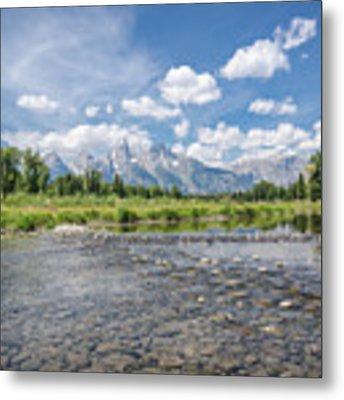 Grand Tetons On A Sunny Day Metal Print by Margaret Pitcher