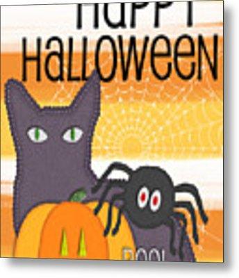 Halloween Friends- Art By Linda Woods Metal Print by Linda Woods