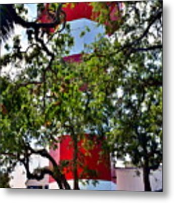 Harbour Town Lighthouse Metal Print by Lisa Wooten