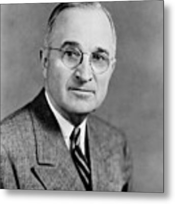 Harry Truman - 33rd President Of The United States Metal Print by War Is Hell Store