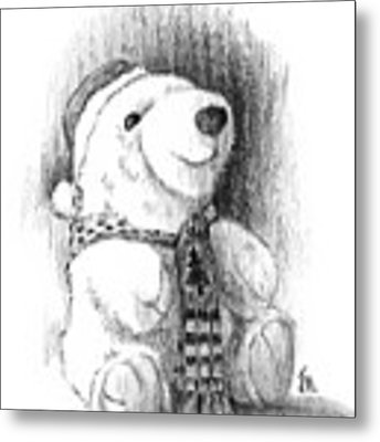 Holiday Bear Metal Print by Joe Winkler
