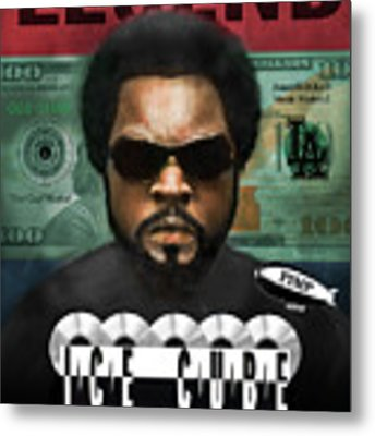 Ice Cube  Metal Print by Dwayne Glapion