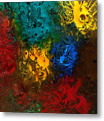 Icy Abstract 10 Metal Print by Sami Tiainen