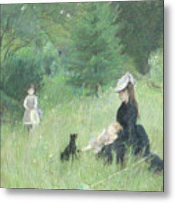 In A Park Metal Print by Berthe Morisot