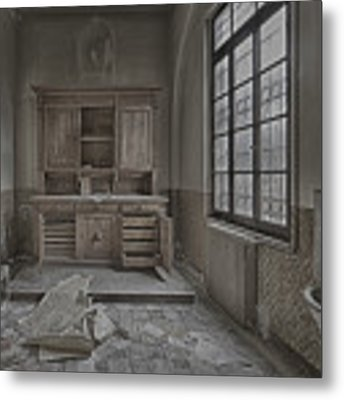 Interior Furniture Atmosphere Of Abandoned Places Dig Photo Metal Print by Enrico Pelos