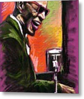 Jazz. Ray Charles.2. Metal Print by Yuriy Shevchuk