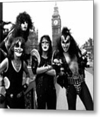 Kiss In London 1976  Metal Print