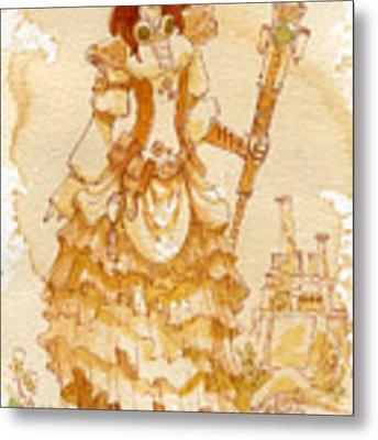 Lady Codex Metal Print by Brian Kesinger