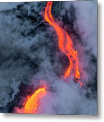 Lava Flowing Into The Ocean 20 Metal Print by Jim Thompson