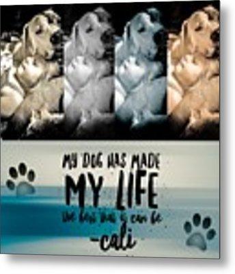 Life With My Dog Metal Print by Kathy Tarochione