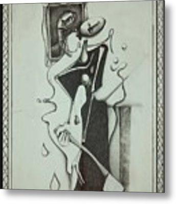 Lizzie Borden Metal Print by Delight Worthyn