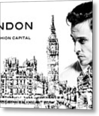 London The Fashion Capital Metal Print by ISAW Company